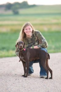 Dr Mandy Jones with dog Coda